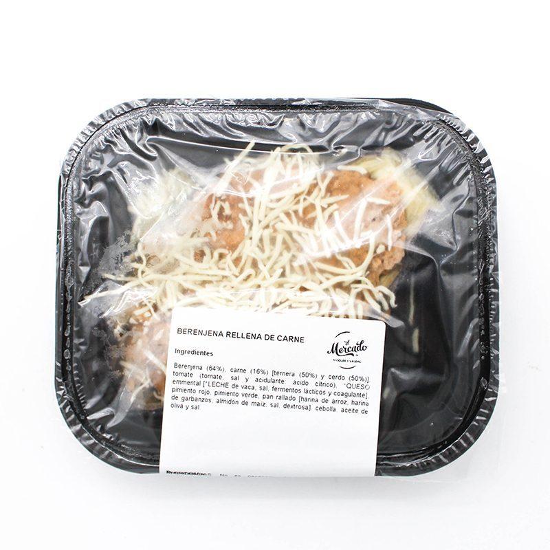 Berenjena Rellena de Carne. 240 gr